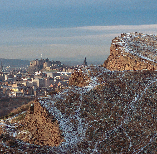 General view from the park over Edinburgh